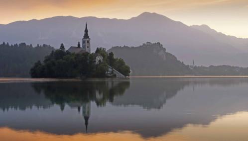 Lake Bled sunset