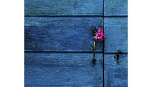 A Blue Door in Greece