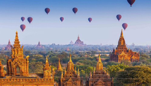 Balloons and Pagodas in Myanmar