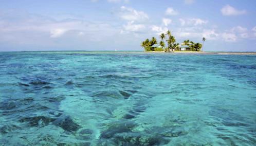 Idyllic island near Belize