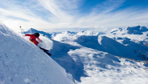 Professional Skiing in Whistler Mountain