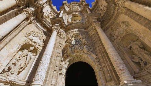 The Doorway of the Cathedral on Plaza de la Reina