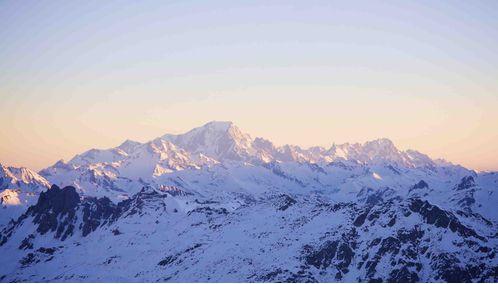 Sun rising over the mountains