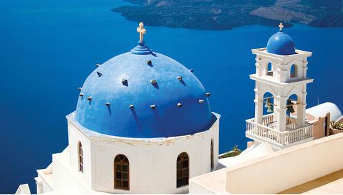Santorini domes