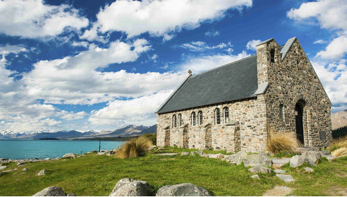 Church of Good Shepherd Lake in Tekapo