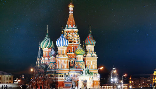 St Basils at night in Moscow