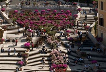 View of the steps at The Inn at the Spanish Steps, luxury hotel ion Italy