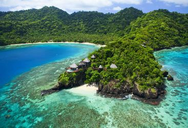Aerial view of Laucala Island