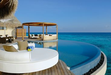 Pool at W Retreat & Spa Maldives, luxury hotel in the Maldives