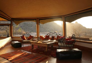 Sunlit Lounge at Saruni Samburu