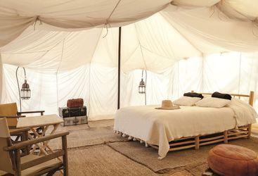 scarabeo desert camp inside tent