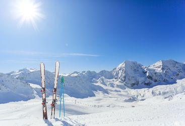 Skiing Dolomites, Italy