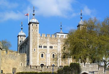 An external view of the Tower of London