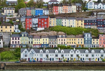 A colourful collection of houses in County Cork