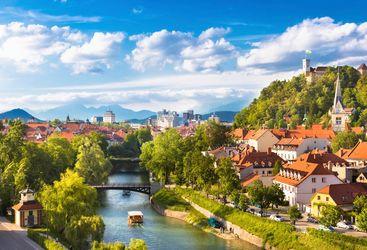 Ljubljana panorama day view