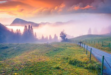 Triglav National Park sunset
