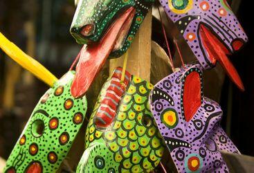 Colourful Head Masks in Guatemala