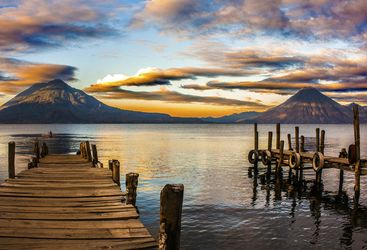 Mountain View of Lake Atitlan