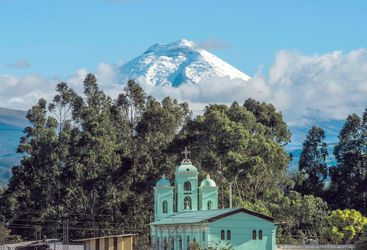 San Jalomo Church below Cotopaxi Volcano