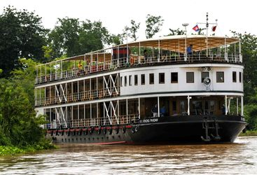 Mekong Pandaw ship on the river in nature