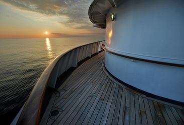 Promenade deck - sunset