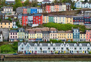 Cork coloured houses