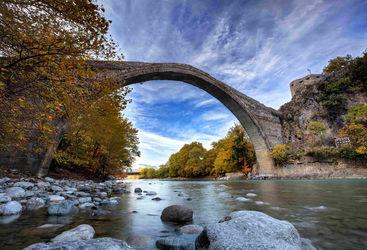 Bridge over a river in Epirus