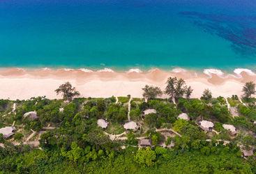 Beach aerial shot