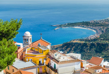 Landscape of Taormina town
