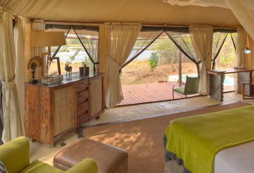 Tented villa view
