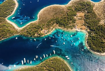 Aerial of Islands in Croatia