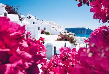 White village in Santorini