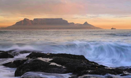 Table Mountain with mist