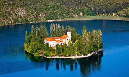 Croatia beautiful Visovac island