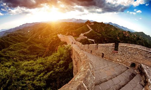 The Great Wall in the Sunshine