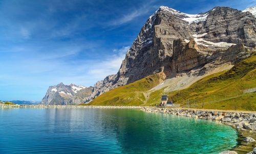 Alpine turquoise lake
