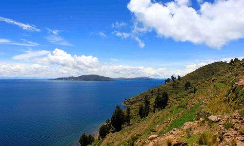 Mountains overlooking Titicaca