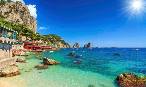 A hidden cove in Capri
