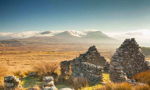 An image of the Renvyle Ruin, Connemara