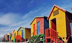 Multicoloured Beach Huts