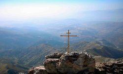 Cross in Rock View, Uzbekistan