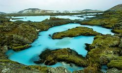 Blue waters in Iceland
