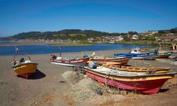 Fishing Boats on the Beach in Chile