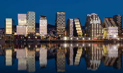Oslo Cityscape at Night
