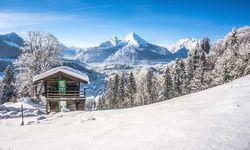Mountain chalet in Winter wonderland