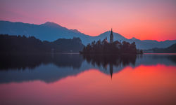 Sunset Lake Bled
