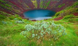 Crater lake in Iceland