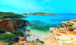 Blue lagoon on Comino Island