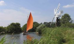 A picture of a sail boat, East Anglia