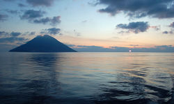 Italy island at sunset
